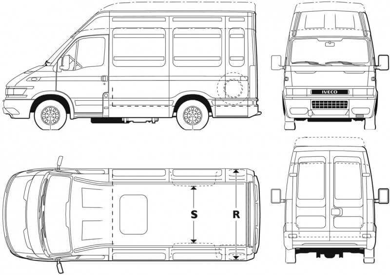 Iveco Daily drawing
