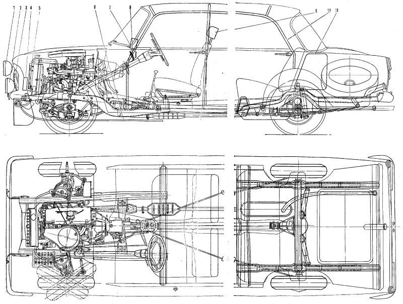 Moskvich-412 drawing