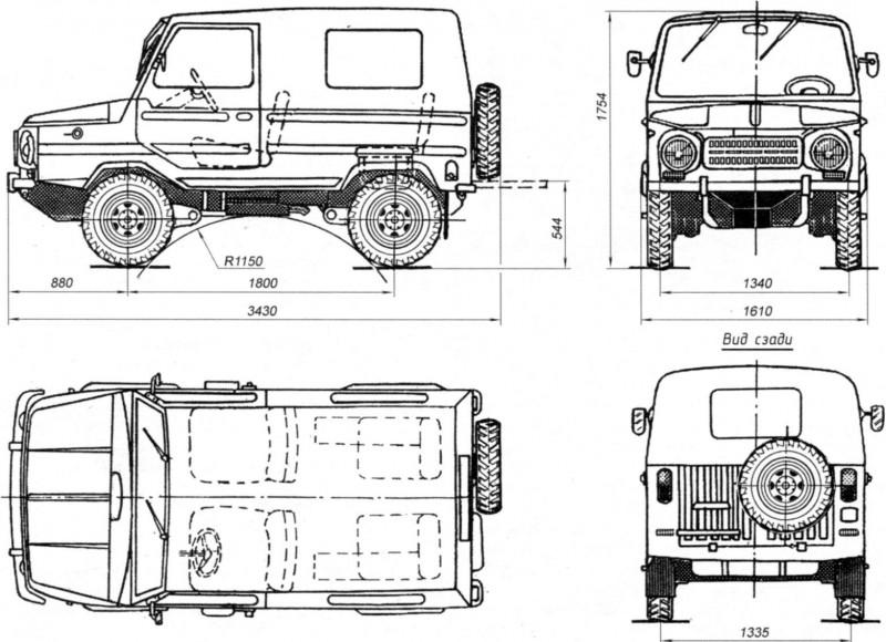 LuAZ-969 drawing