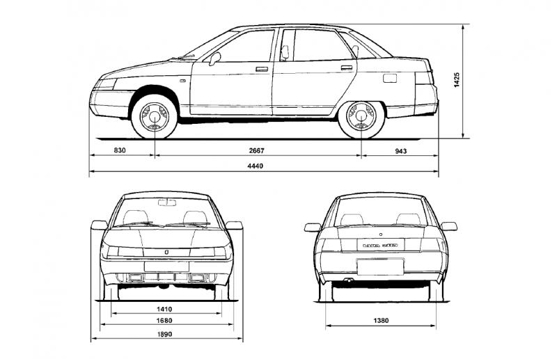 VAZ-2110 drawing