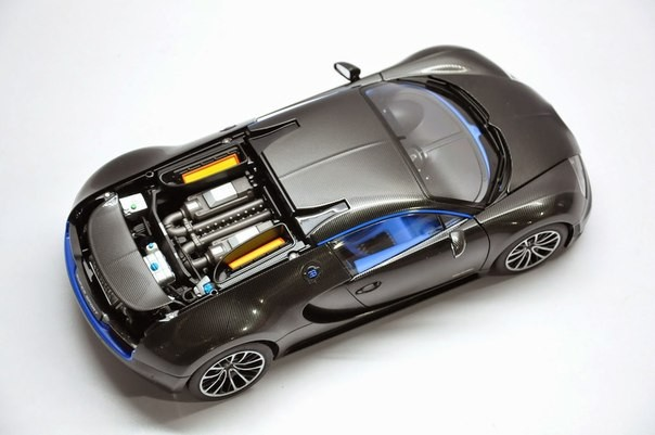Top view of Bugatti Veyron Super Sport