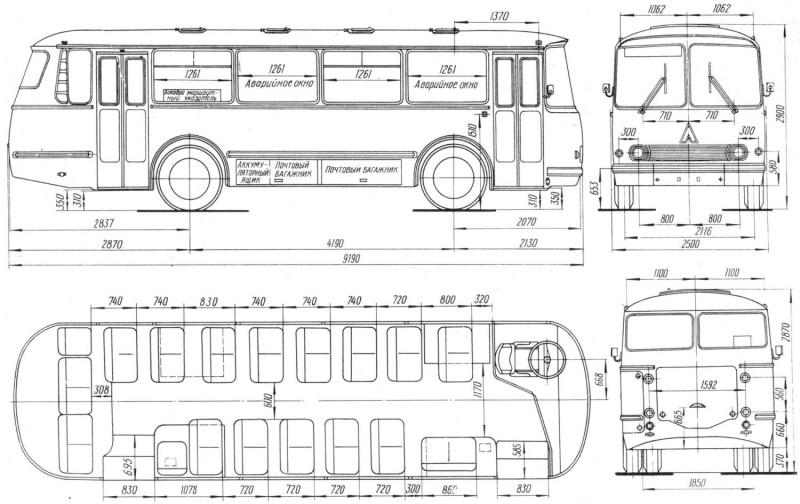 LAZ 695 drawing