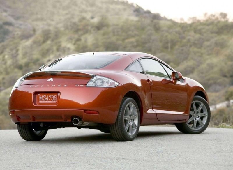 Mitsubishi Eclipse view from behind