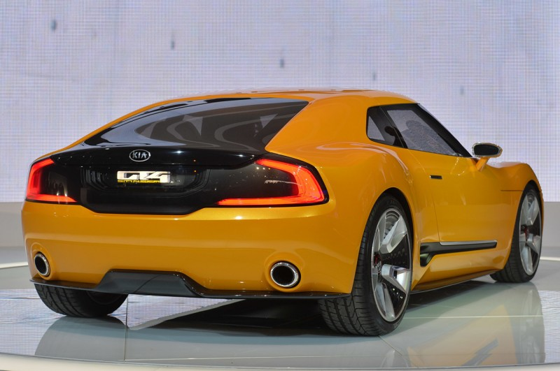 Kia GT4 Stinger rear view