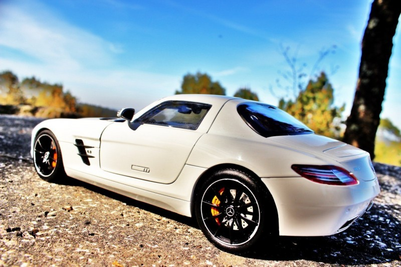 Mercedes-Benz SLS AMG side view
