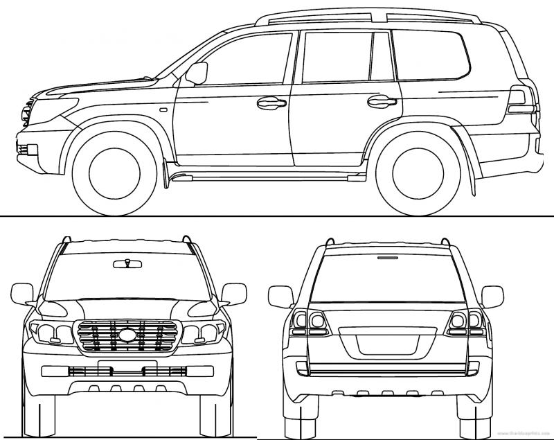 Drawing Toyota Land Cruiser 200