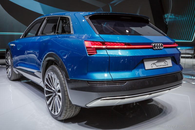 Audi Q6 e-tron rear view