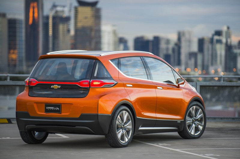 Rear view of Chevrolet Bolt