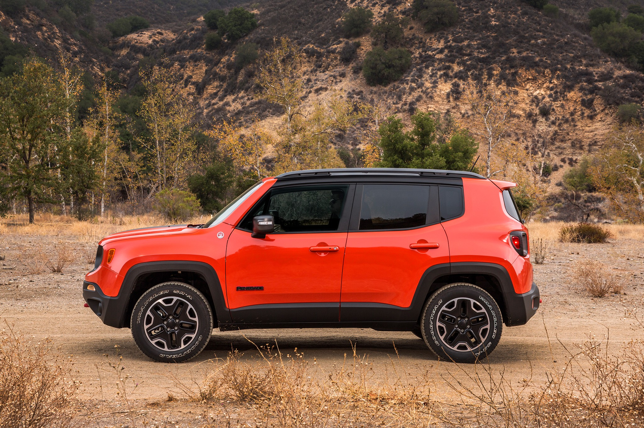 Side view of Jeep Renegade