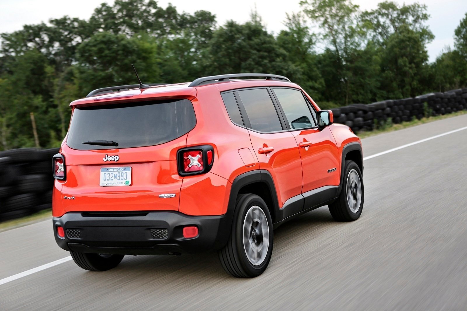 The view behind Jeep Renegade