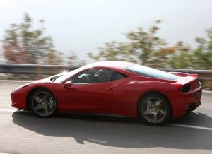 Side view of Ferrari 458 Italia
