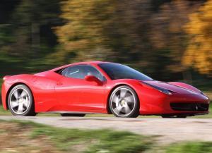 A Ferrari 458 Italia sports car
