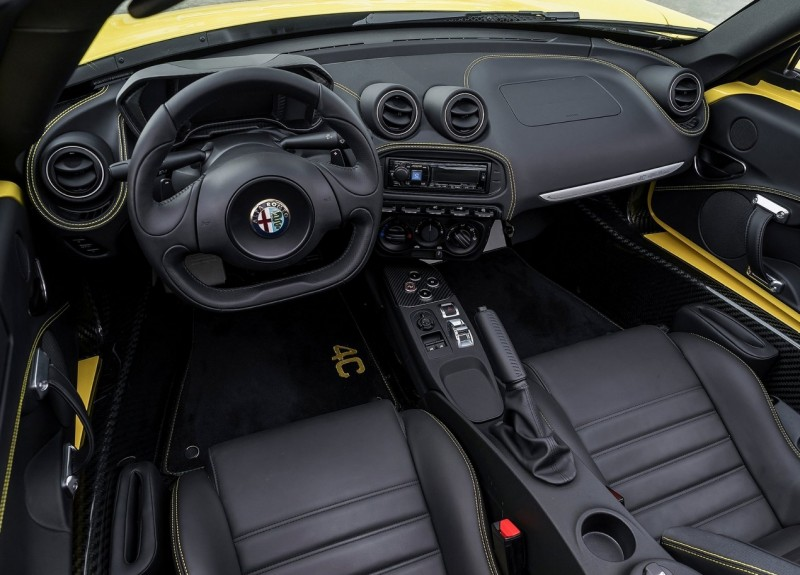 Interior of Alfa Romeo 4C Spider