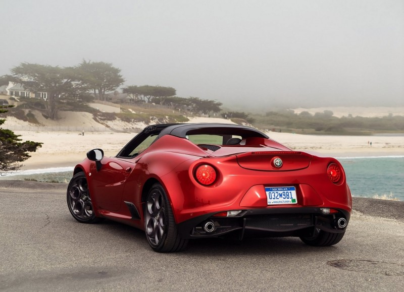 Rear view of Alfa Romeo 4C Spider