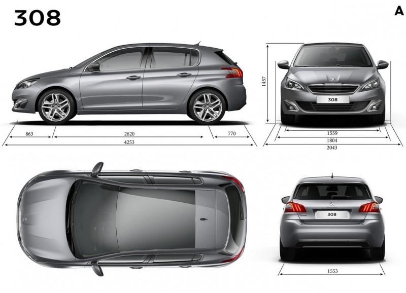 Peugeot 308 чертеж