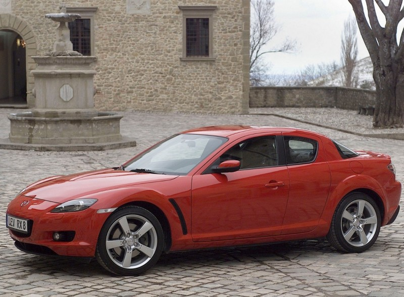 Side view of the Mazda RX-8