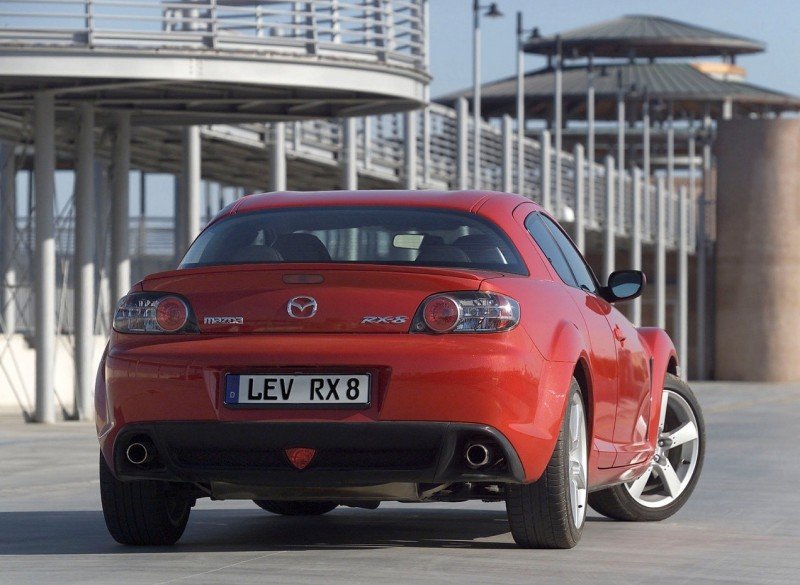 Rear view of the Mazda RX-8