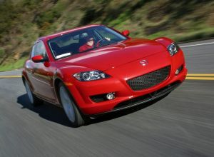 Front view of the Mazda RX-8