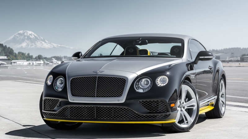 """The """"flying"""" Bentley Continental GT"""