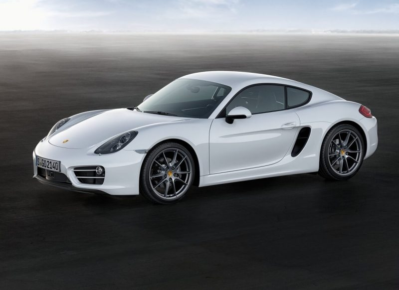 Side view of Porsche Cayman