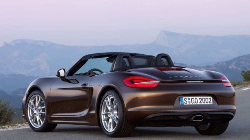 Porsche Boxster view from behind