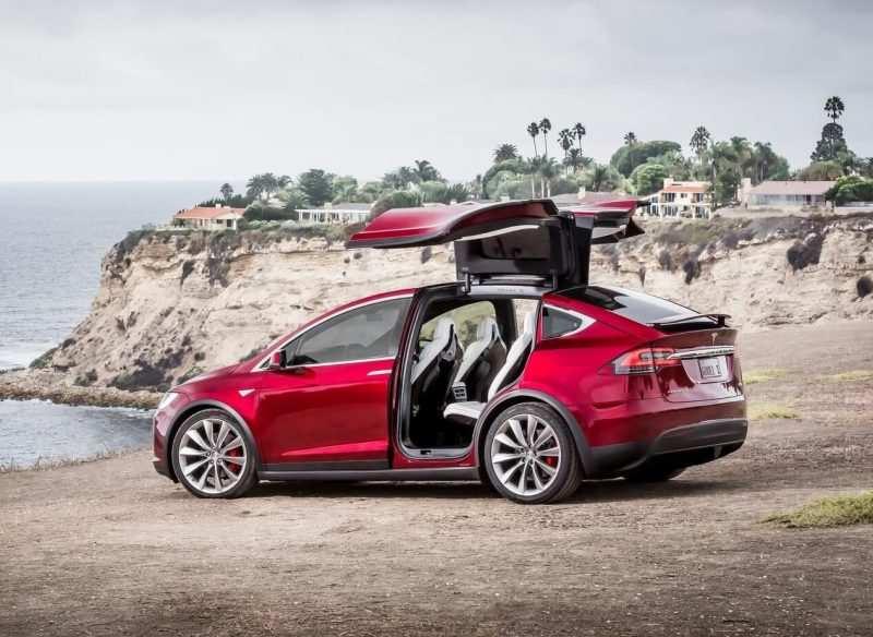 Side view of Tesla Model X