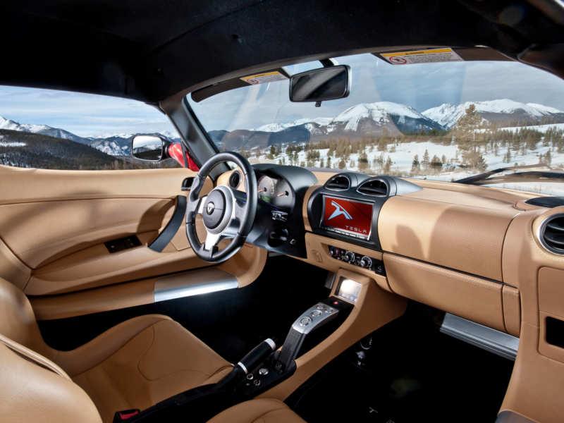 Photo of the Tesla Roadster salon