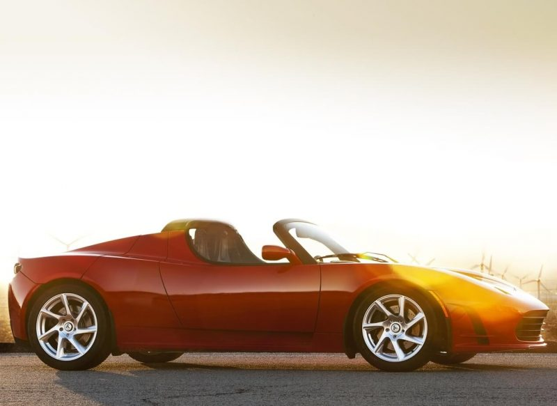 Tesla Roadster view from the side