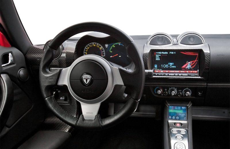 Photo of the centre console