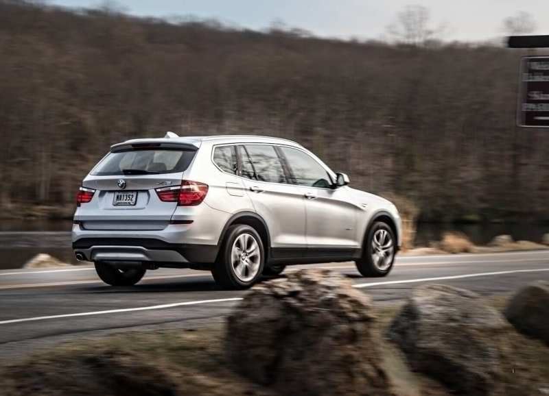 Rear view of the BMW X3