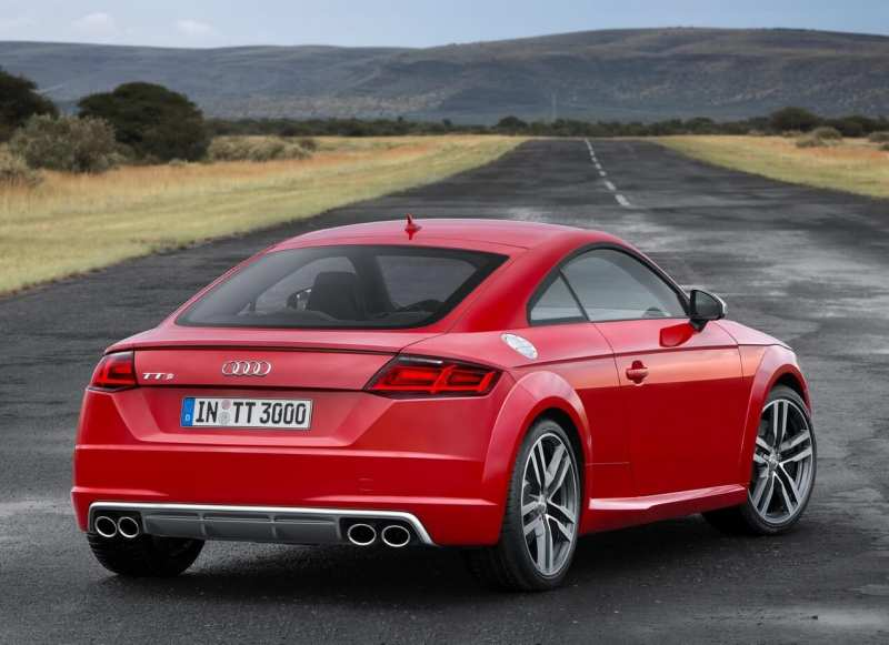 Rear view of Audi TT
