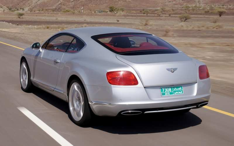 Rear View Bentley Continental GT