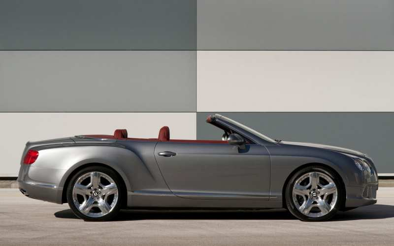Side view of Bentley Continental GT