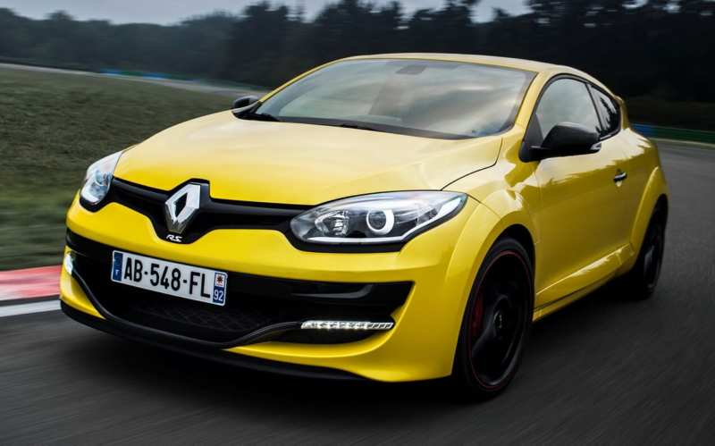 Front view of Renault Megane R.S.