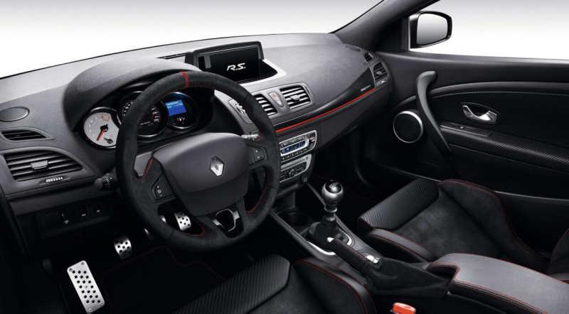 Interior of Renault Megane R.S.