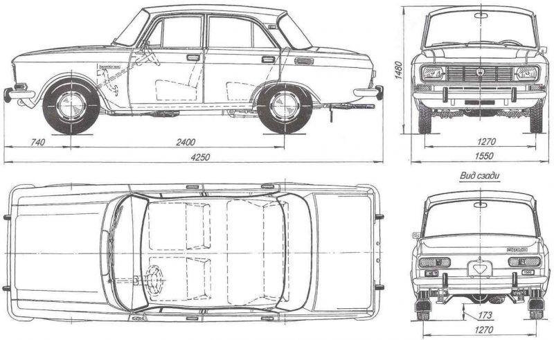 Moskvich-2140 drawing