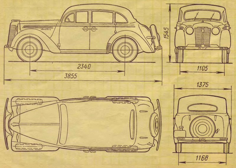 Moskvich-400 drawing