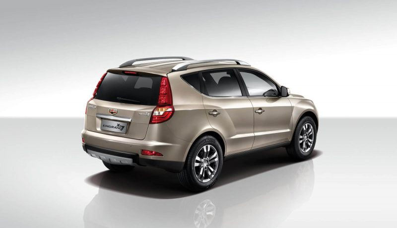 rear view Geely Emgrand X7