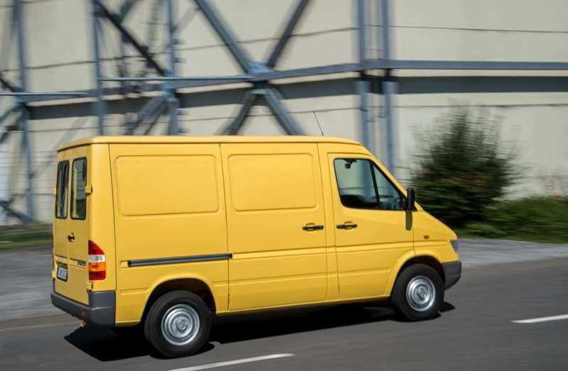 Photo of the first generation Mercedes-Benz Sprinter van