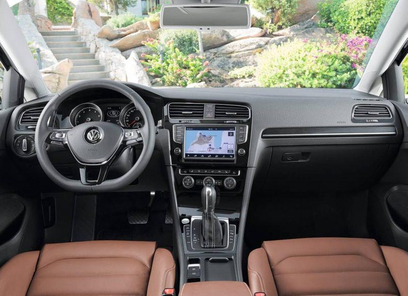Interior of Volkswagen Golf 7