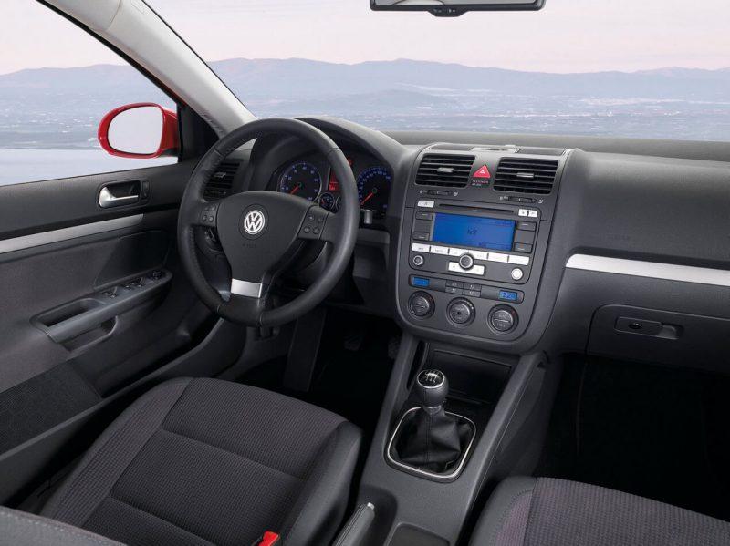 Interior of Volkswagen Golf 5