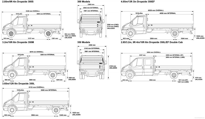 Ford Transit drawing
