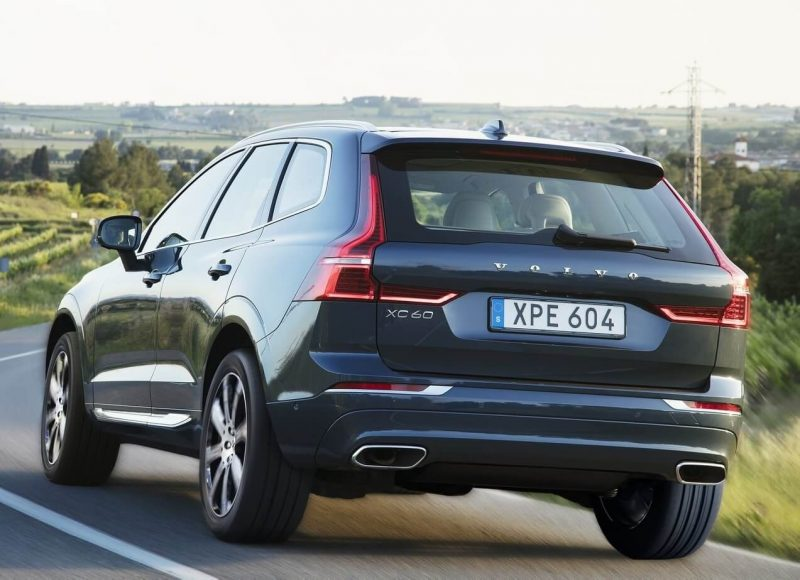Rear view of the Volvo XC60