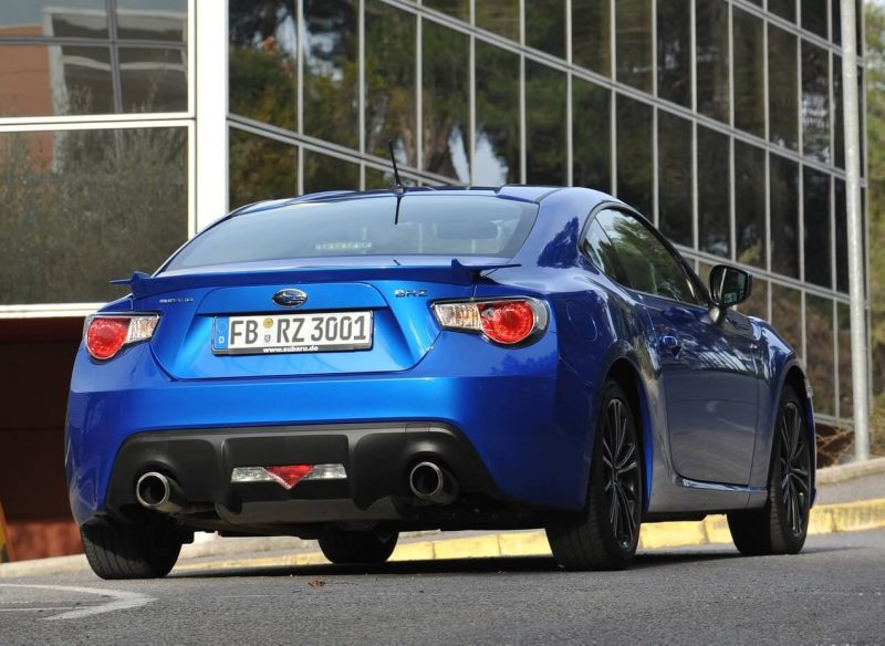 Subaru BRZ view from behind