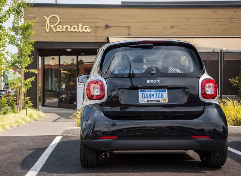 Smart ForTwo III back view