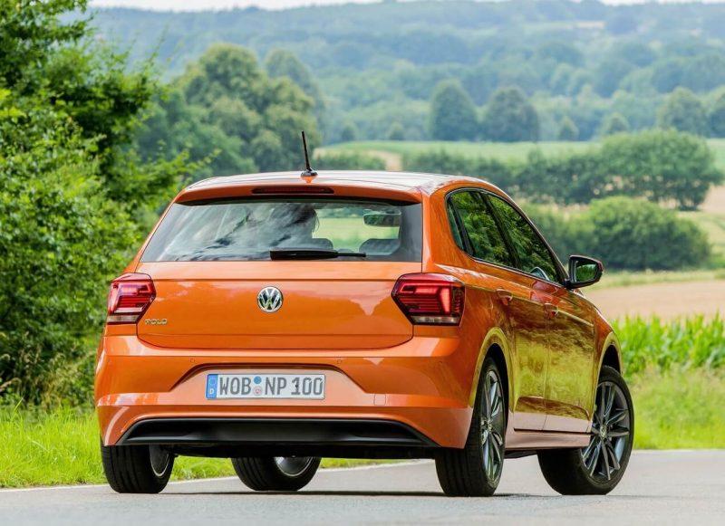 Rear view of Volkswagen Polo VI