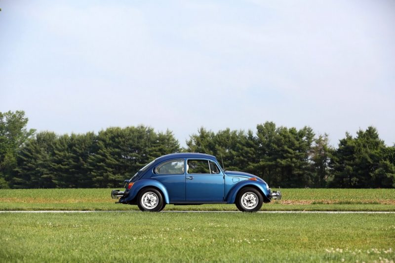 VW Beetle view from the side