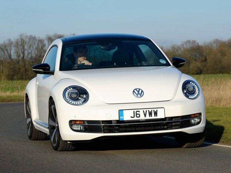 Front view of Volkswagen Beetle 3