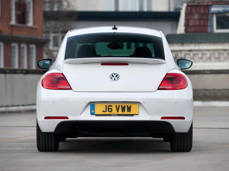 Rear view of Volkswagen Beetle 3