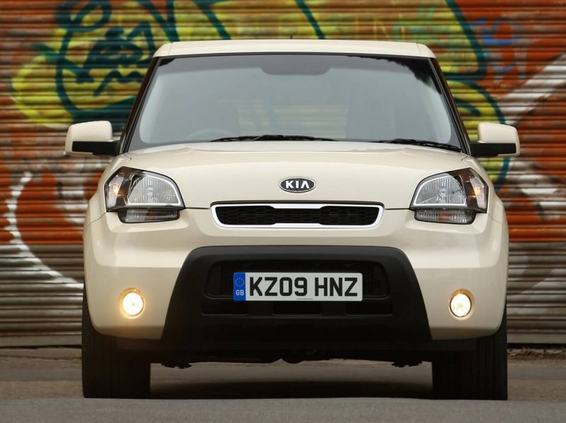 Front view of Kia Soul